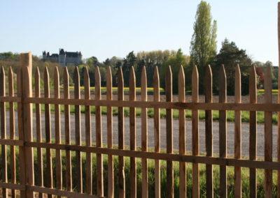 clôture ganivelle portail bois châtaignier Kastané #103