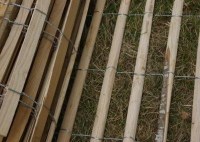 clôture ganivelle portail bois châtaignier Kastané #007
