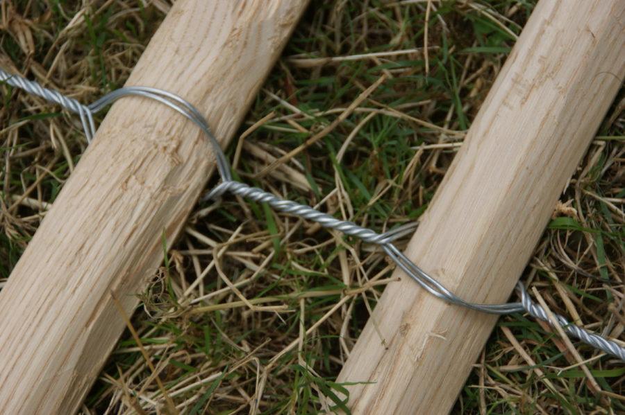 clôture ganivelle portail bois châtaignier Kastané #005