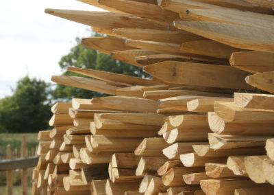 clôture ganivelle portail bois châtaignier Kastané #004