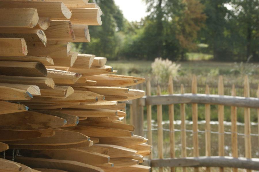 clôture ganivelle portail bois châtaignier Kastané #002
