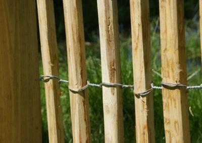 clôture ganivelle portail bois châtaignier Kastané #009