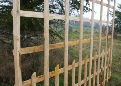 clôture ganivelle portail bois châtaignier Kastané #102