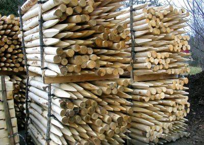clôture ganivelle portail bois châtaignier Kastané #026