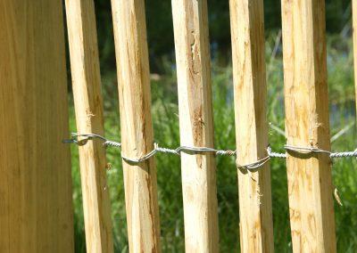 clôture ganivelle portail bois châtaignier Kastané #025