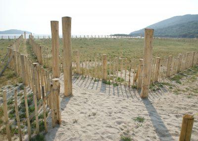 clôture ganivelle portail bois châtaignier Kastané #033
