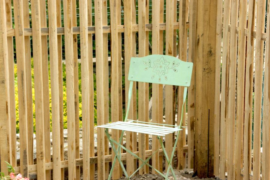 clôture ganivelle portail bois châtaignier Kastané #024