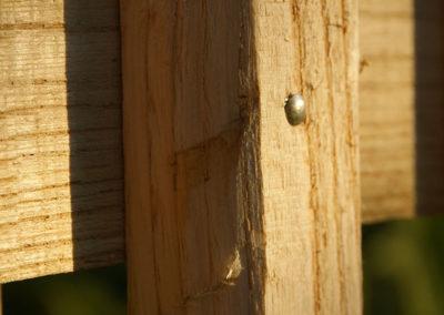 clôture ganivelle portail bois châtaignier Kastané #062
