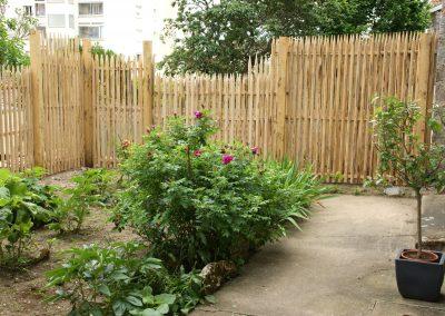 clôture ganivelle portail bois châtaignier Kastané #030