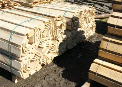clôture ganivelle portail bois châtaignier Kastané #031