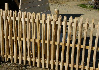 clôture ganivelle portail bois châtaignier Kastané #063