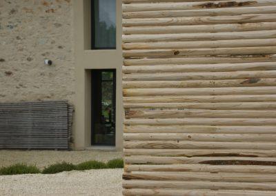 clôture ganivelle portail bois châtaignier Kastané #022
