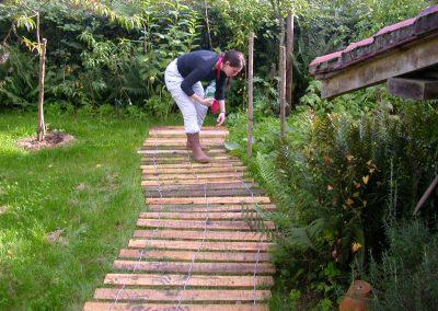 clôture ganivelle portail bois châtaignier Kastané #107
