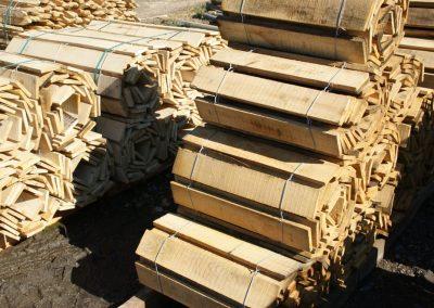 clôture ganivelle portail bois châtaignier Kastané #106