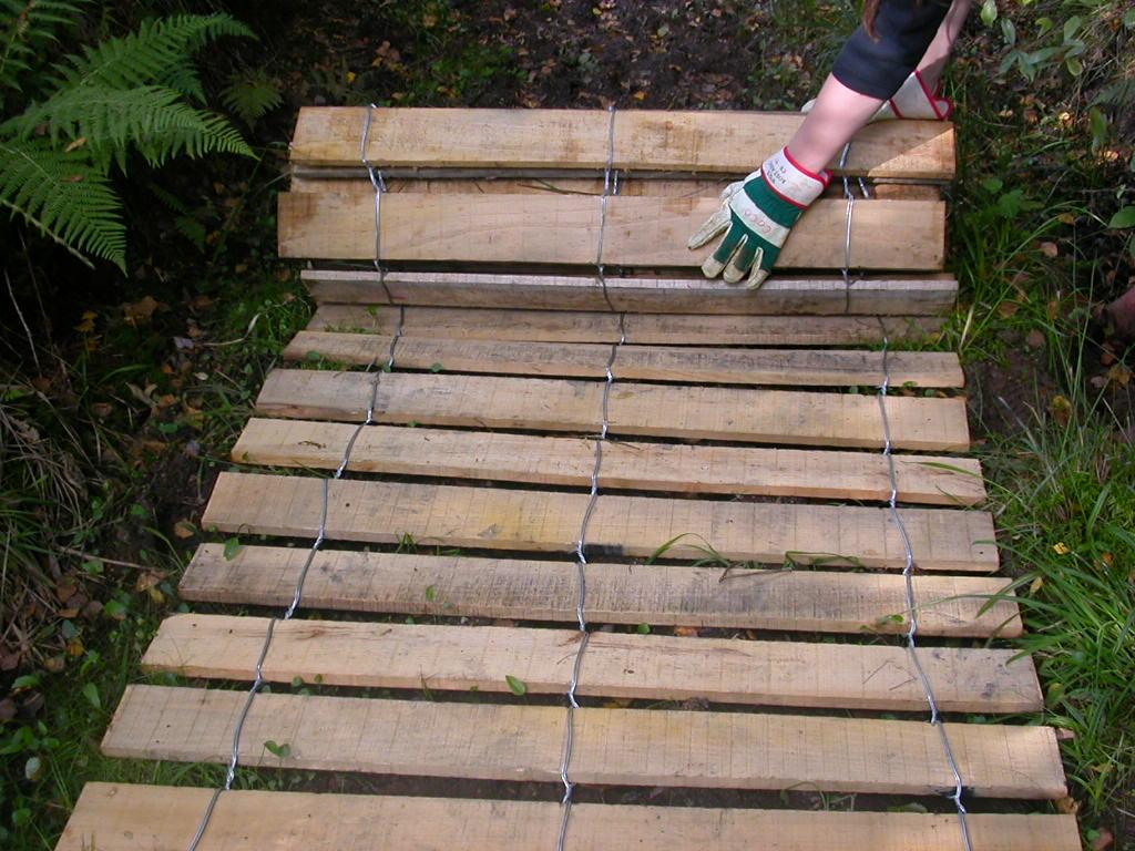 clôture ganivelle portail bois châtaignier Kastané #014