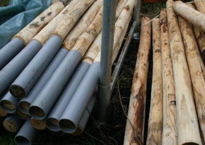 clôture ganivelle portail bois châtaignier Kastané #052