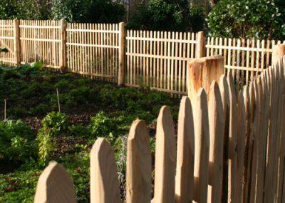 clôture ganivelle portail bois châtaignier Kastané #023