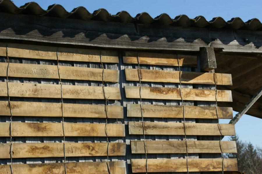 clôture ganivelle portail bois châtaignier Kastané #008
