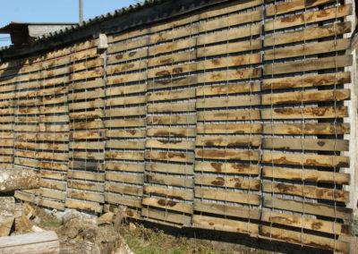clôture ganivelle portail bois châtaignier Kastané #109