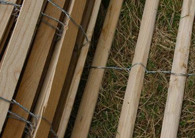 clôture ganivelle portail bois châtaignier Kastané #003