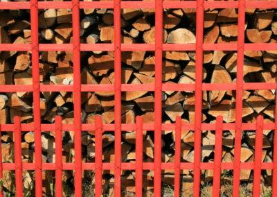 clôture ganivelle portail bois châtaignier Kastané #068