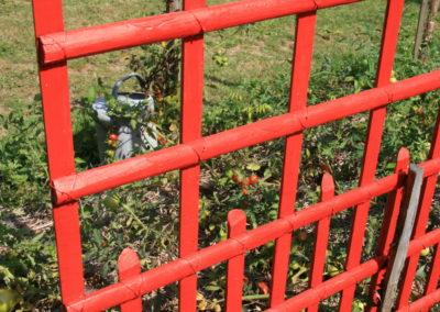 clôture ganivelle portail bois châtaignier Kastané #069