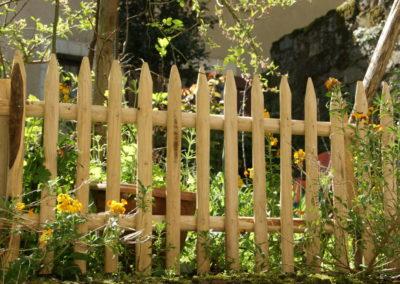 clôture ganivelle portail bois châtaignier Kastané #072