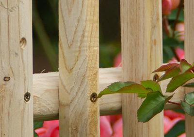 clôture ganivelle portail bois châtaignier Kastané #114