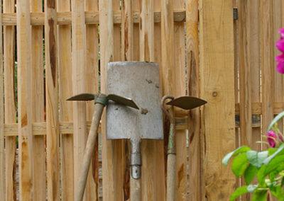 clôture ganivelle portail bois châtaignier Kastané #115