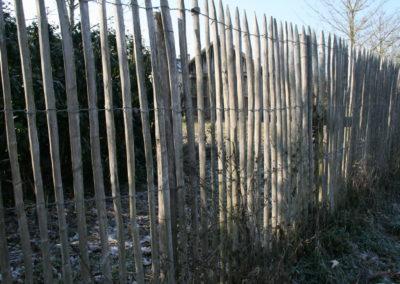 clôture ganivelle portail bois châtaignier Kastané #050