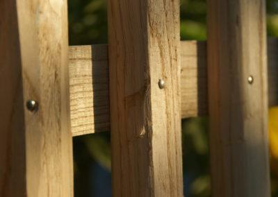 clôture ganivelle portail bois châtaignier Kastané #059