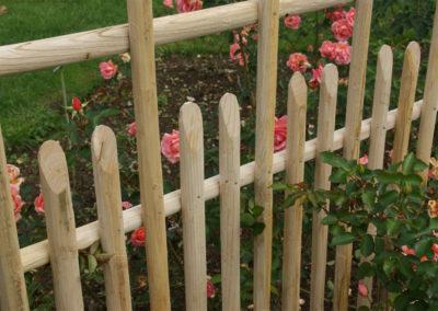 clôture ganivelle portail bois châtaignier Kastané #053