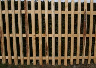 clôture ganivelle portail bois châtaignier Kastané #044