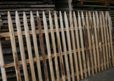 clôture ganivelle portail bois châtaignier Kastané #043