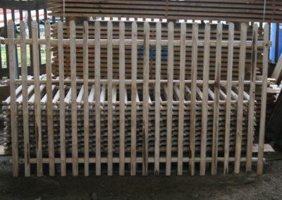 clôture ganivelle portail bois châtaignier Kastané #047