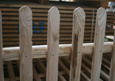clôture ganivelle portail bois châtaignier Kastané #111