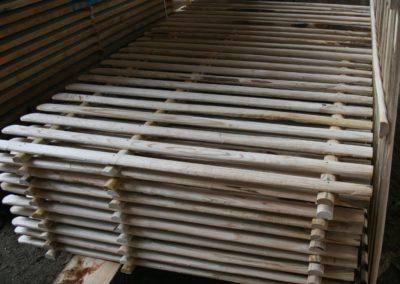 clôture ganivelle portail bois châtaignier Kastané #110