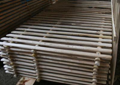 clôture ganivelle portail bois châtaignier Kastané #046