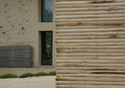 clôture ganivelle portail bois châtaignier Kastané #042