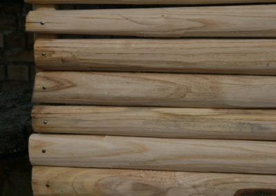 clôture ganivelle portail bois châtaignier Kastané #055