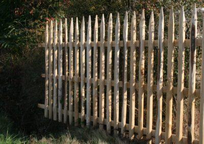 clôture ganivelle portail bois châtaignier Kastané #060