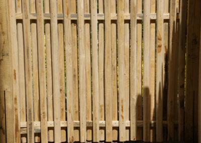 clôture ganivelle portail bois châtaignier Kastané #041