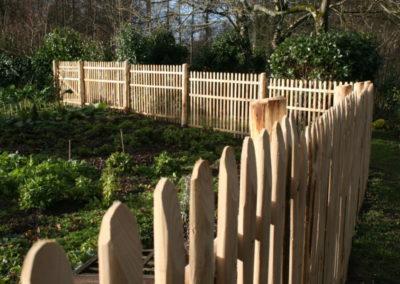clôture ganivelle portail bois châtaignier Kastané #040