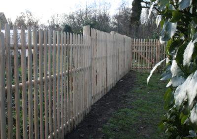 clôture ganivelle portail bois châtaignier Kastané #058