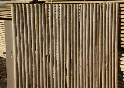 clôture ganivelle portail bois châtaignier Kastané #036