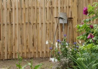 clôture ganivelle portail bois châtaignier Kastané #034