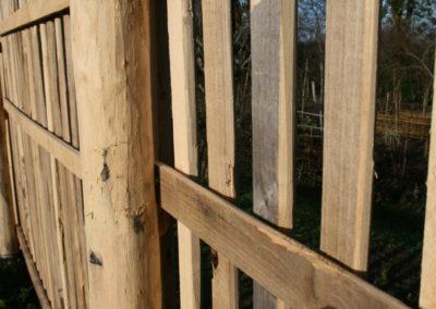 clôture ganivelle portail bois châtaignier Kastané #045