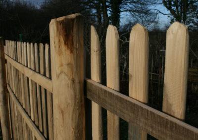 clôture ganivelle portail bois châtaignier Kastané #049