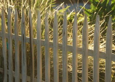 clôture ganivelle portail bois châtaignier Kastané #054