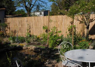 clôture ganivelle portail bois châtaignier Kastané #066